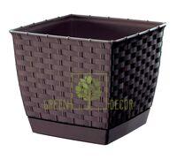 Горшок Ратолла 3,8 л квадратный коричневый