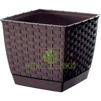 Горшок Ратолла 1,5 л квадратный коричневый
