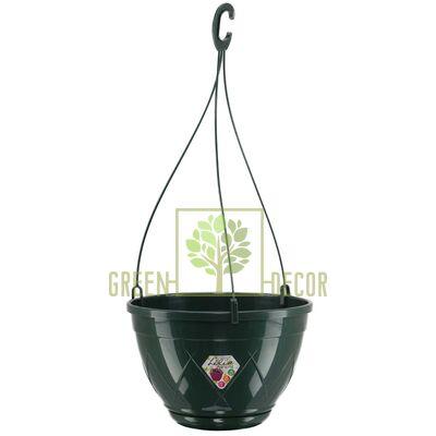 Горщик для квітів Лілія підвісна зелений 2,5 л