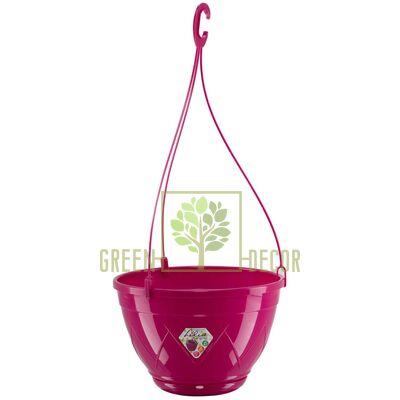 Горшок для цветов Лилия подвесная пурпурный 4 л