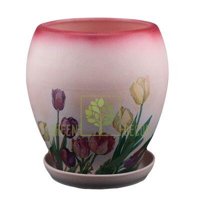 Горшок для цветов П-1 Тюльпан декупаж 3,65 л