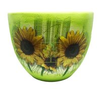 Горшок для цветов М-1 Подсолнухи декупаж 8,3 л