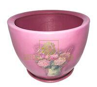 Горшок для цветов М-1 Сирень декупаж 8,3 л