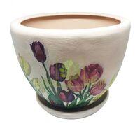 Горшок для цветов М-1 Тюльпаны декупаж 8,3 л