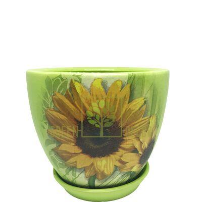 Горщик для квітів М-3 Соняшники декупаж 1,55 л