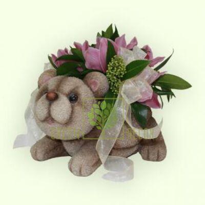 Кашпо для цветов Мишка