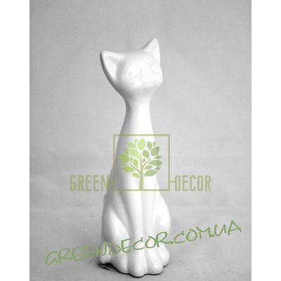 Статуэтка Кот белый глянец 2