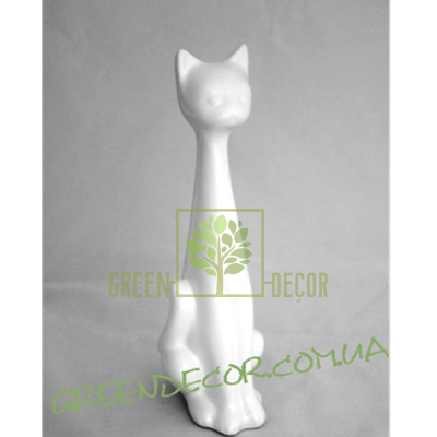 Статуэтка Кот белый глянец 3