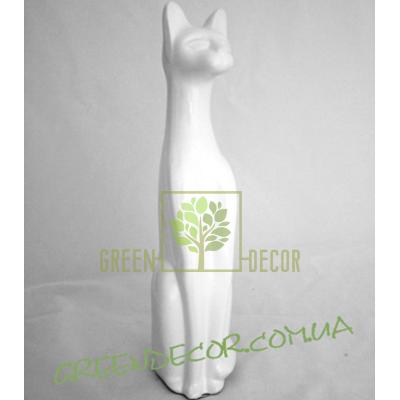 Статуэтка Кот белый глянец 4