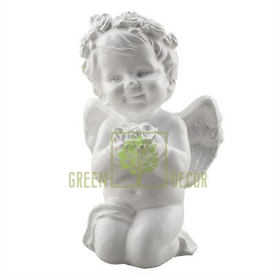 Статуэтка Ангелочек с цветочком