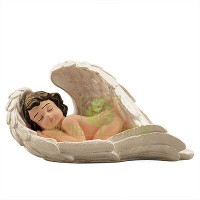 Статуэтка Ангел лежит большой цветной