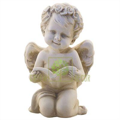 Статуэтка Ангелочек с книжкой песочный AN0717-7(G)