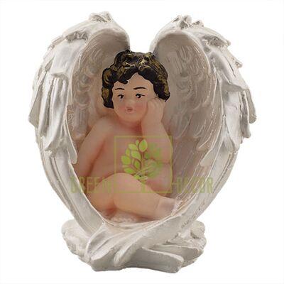 Статуэтка Ангел в крыле цветной AN0729-1(G)
