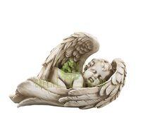 Статуэтка Ангел на крыле малый песочный