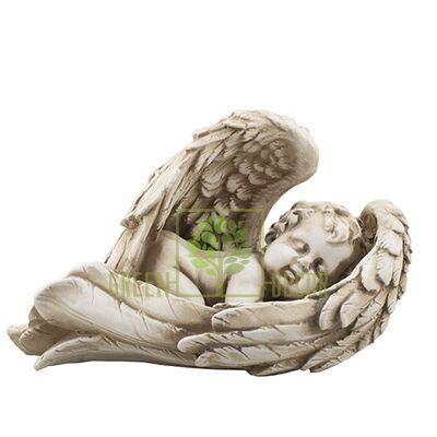 Статуэтка Ангел на крыле малый песочный AN0015-7(G)