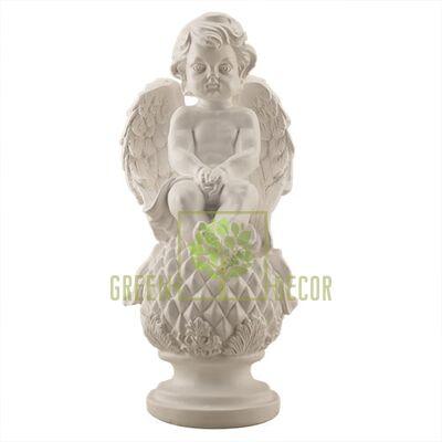 Статуэтка Ангел на шаре белый AN0701(G)