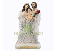 Статуэтка Святая семья с ребенком цветная