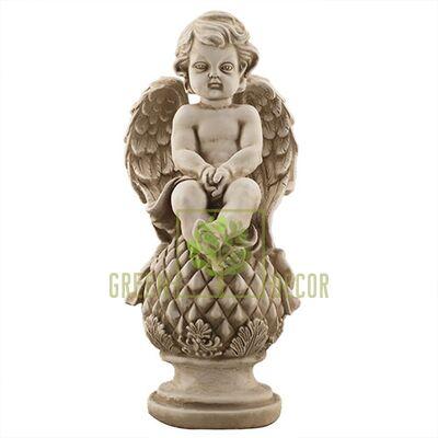 Статуэтка Ангел на шаре песочный AN0701-7(G)