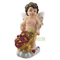 Статуэтка Ангелочек с тачкой цветной с посыпкой