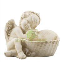 Статуэтка Ангелочек с ракушкой песочный