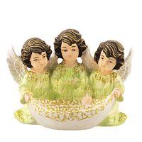 Статуэтка Три ангелочка с чашей цветной