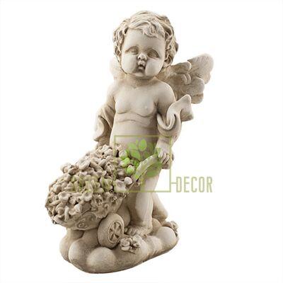 Статуетка Янголятко з тачкою пісочний