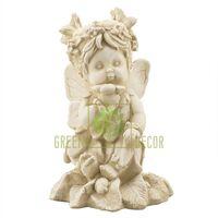 Статуэтка Ангел девочка с цветком песочная
