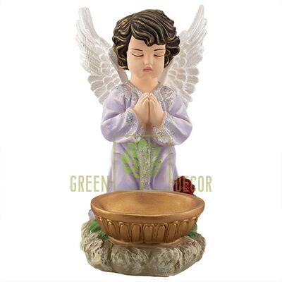 Статуетка Ангел з чашею великий кольоровий