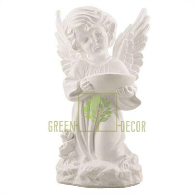 Статуетка Статуетка Ангел з чашею малий білий