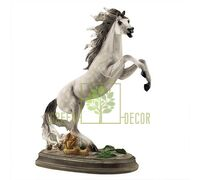 Статуетка Кінь на дибах великий сірий