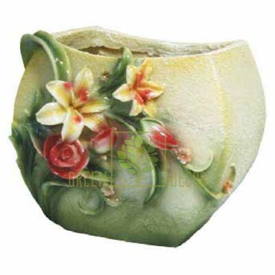 Кашпо для цветов Лилии с розами - оригинальный подарок для родных и близких