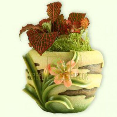 Кашпо для цветов С лилиями - оригинальный подарок для родных и близких