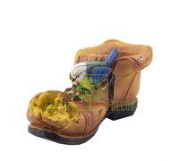 Кашпо Ботинок с синичками