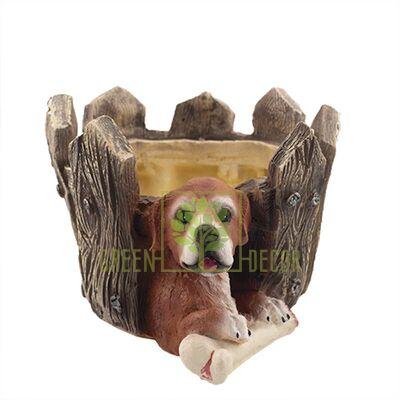 Кашпо для цветов Собака за забором
