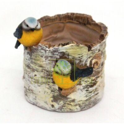 Кашпо для цветов Птички на березе - оригинальный подарок для родных и близких