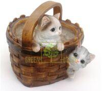 Кашпо Корзина с котятами