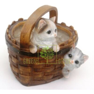 Кашпо для цветов Корзина с котятами