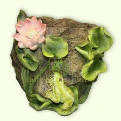 Кашпо для цветов С лилиями и лягушкой