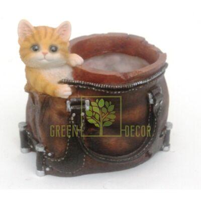 Кашпо для цветов Сумка с котиком - оригинальный подарок для родных и близких