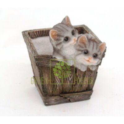 Кашпо для цветов Ящичек с котятами - оригинальный подарок для родных и близких