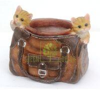 Кашпо Сумка с котятами