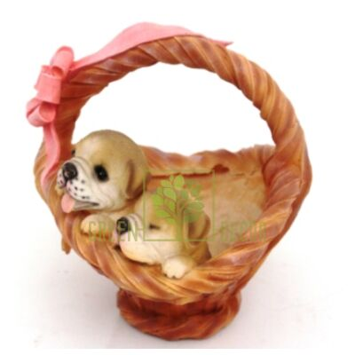 Кашпо для цветов Корзинка со щенками