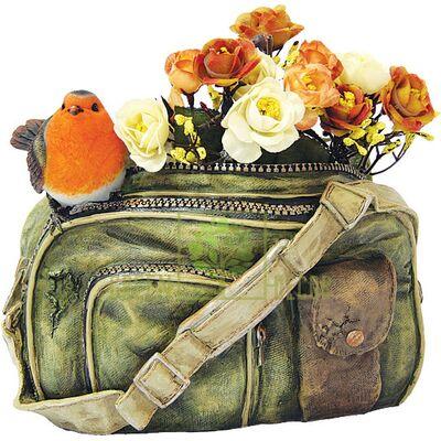Кашпо для цветов Сумка с синичкой