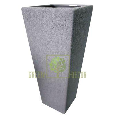 Вазы для цветов Ваза КВАДРО Серый КРОКОДИЛ от Ekoceramika |Green Decor