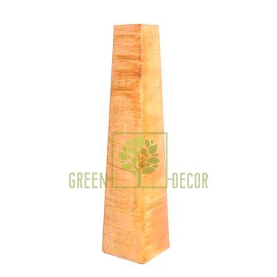Вазы для цветов Ваза ПИРАМИДА Бронза от Ekoceramika |Green Decor