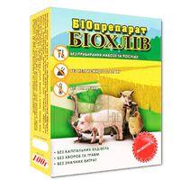 Біопрепарат Биохлів 100 г для підстилки тварин