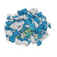 Декоративный щебень 20 кг Микс белый-голубой