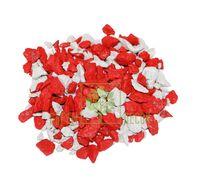 Декоративный щебень 20 кг Микс белый-красный