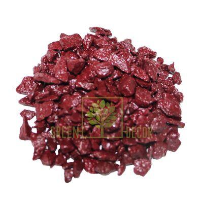 Декоративные камни 3 кг бордовые