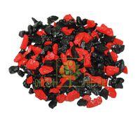 Декоративный щебень 20 кг Микс черно-красный